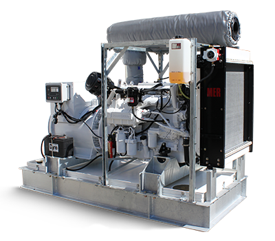 150kW Custom Generator with skin-mounted accessories and exhaust